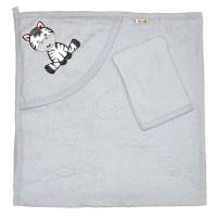 """Детское полотенце с капюшоном, махровое """"Зебра"""""""