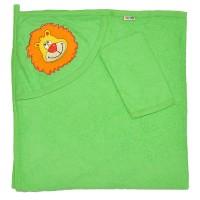 """Детское полотенце с капюшоном, махровое """"Львенок"""""""