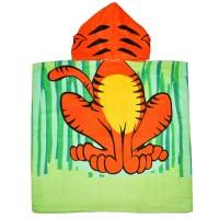 """Детская махровая накидка с капюшоном """"Тигр"""""""