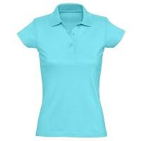 Рубашка-поло женская, однотонная (голубой)