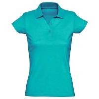 Рубашка-поло женская, однотонная (морской)