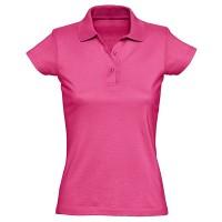 Рубашка-поло женская, однотонная (розовый)