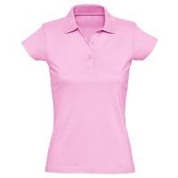 Рубашка-поло женская, однотонная (светло-розовый)