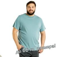 Футболка мужская, большого размера, голубого цвета
