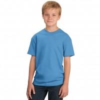 Футболка подростковая, однотонная, цвет голубой