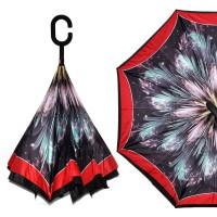 """Зонт наоборот """"Красный калейдоскоп"""""""
