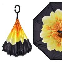 """Зонт наоборот """"Желтый цветок"""""""