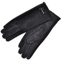 """Женские перчатки для сенсорных экранов, комбинированные """"Бантик"""" (black)"""