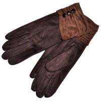 """Женские перчатки для сенсорных экранов """"Пуговица"""" (brown)"""