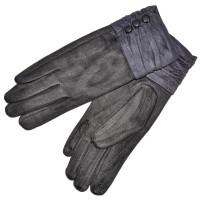 """Женские перчатки для сенсорных экранов """"Пуговица"""" (gray)"""