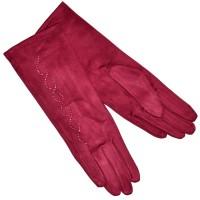 """Удлиненные женские перчатки """"Вьюнок"""" (red)"""