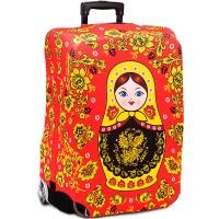 """Чехол на чемодан """"Матрешка"""" (red)"""