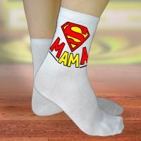 """Носки женские с надписью """"Супер Мама"""""""