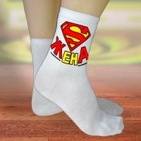 """Носки женские с надписью """"Супер Жена"""""""