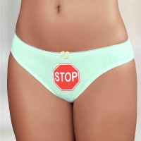 """Трусы женские с рисунком """"STOP"""""""