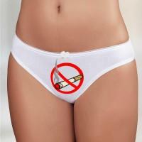 """Трусы женские с рисунком """"Не курить!"""""""