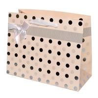 """Пакет подарочный с тиснением """"Горошек"""" (orange, 23x18)"""