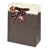 """Пакет подарочный """"Нежность"""" (brown, 12x15)"""