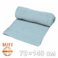 Полотенце махровое, банное SUFI (Индия), светло-серый
