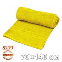 Полотенце махровое, банное SUFI (Индия), желтый