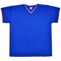 Футболка V-ворот, пике, триколор (Браво), синий