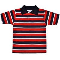 Рубашка-поло детская в полоску -07