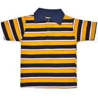 Рубашка-поло детская в полоску -09