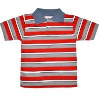 Рубашка-поло детская в полоску -10