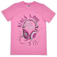 """Футболка детская """"Girls Love"""" для девочки"""