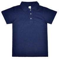 """Рубашка-Поло подростковая """"Fresh"""" (темно-синий)"""