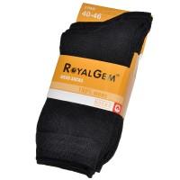 """Носки мужские """"Royal Gem"""" комплект 3 пары (черного цвета)"""