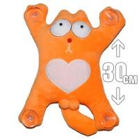 """Игрушка плюшевая на присосках """"Кот Саймона, сердце"""" (оранжевый)"""