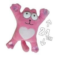 """Игрушка плюшевая на присосках """"Кошка Саймона"""" (розовый)"""