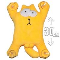 """Игрушка плюшевая на присосках """"Кот Саймона"""" (желтый)"""