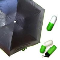 Зонт капсула, зеленый