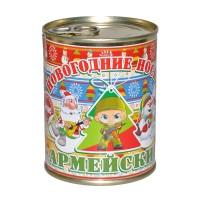 """Новогодние носки в банке """"Армейские"""""""