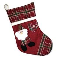 """Носок новогодний для подарка """"Санта"""""""