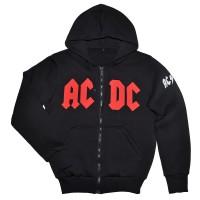 """Толстовка Кенгуру с капюшоном и карманами на молнии """"AC/DC"""""""