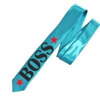 """Галстук с надписью """"BOSS"""" (узкий)"""