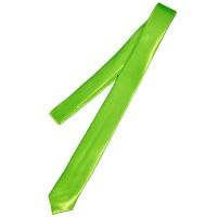 Галстук однотонный зеленый (узкий)