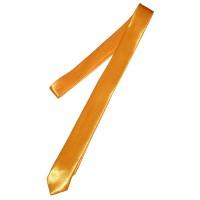 Галстук однотонный оранжевый (узкий)