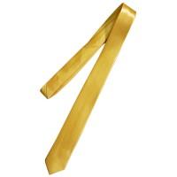 Галстук однотонный желтый (узкий)