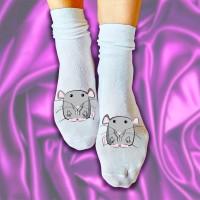 """Носки женские с рисунком """"Мышонок"""""""
