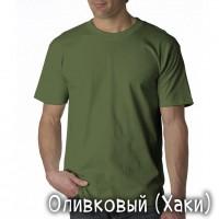 """Футболка однотонная, мужская """"Velvet"""" цвет олива (стандарт)"""