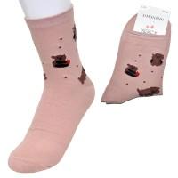 """Носки женские """"Тедди"""" (розовый)"""