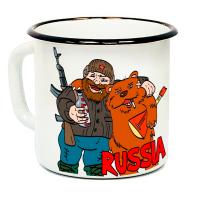 """Кружка металлическая """"Russia (Медведь)"""" (эмаль)"""