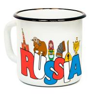 """Кружка металлическая """"Russia"""" (эмаль)"""