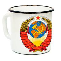 """Кружка металлическая """"Герб СССР"""" (эмаль)"""