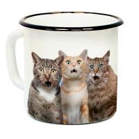 """Кружка металлическая """"Три кота"""" (эмаль)"""