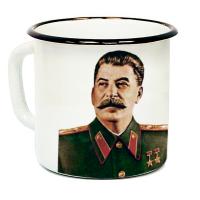 """Кружка металлическая """"Сталин"""" (эмаль)"""
